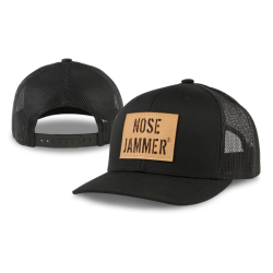 Curved Bill Trucker Hat Black