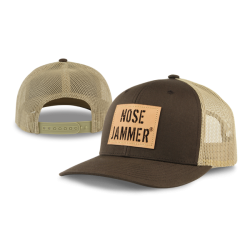 Curved Bill Trucker Hat DarkLight Brown