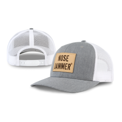 Curved Bill Trucker Hat GrayWhite